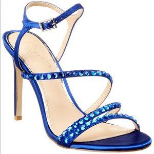Badgley Mischka blue heels w/rhinestones